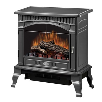 Electric Stove-Style Fireplace - Cranberry