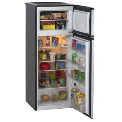 Compact 7.4 CF Apartment Refrigerator Mini Bar Office Fridge and Freezer - Black