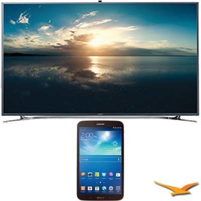 UN65F9000 - 65` 4K Ultra HD 120Hz 3D Smart LED TV - 8-Inch Galaxy Tab 3 Bundle