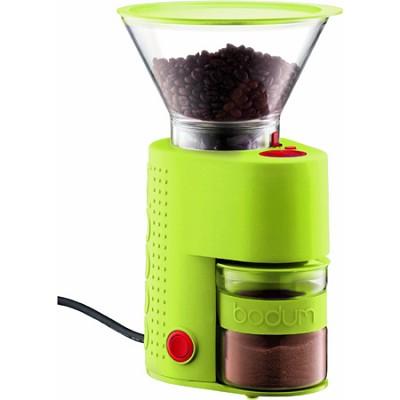 Bistro Electric Burr Coffee Grinder - Lime Green