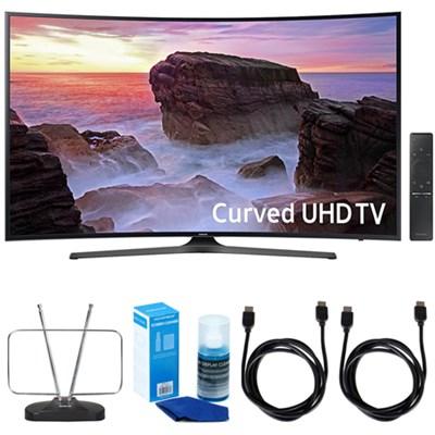 Curved 55` 4K UHD Smart LED TV (2017 Model) w/ TV Cut The Cord Bundle