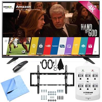 55UF7600 - 55-inch 2160p 120Hz 4K UHD LED TV w/ WebOS Tilt Mount/Hook-Up Bundle