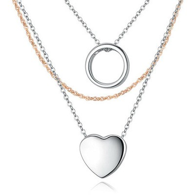 Swarovski Element and Alloy, Plated 18k White Gold Traditional Necklace Set