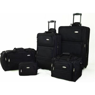 5 Piece Nested Luggage Set (Black)