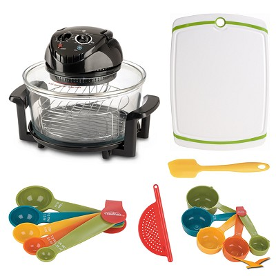 12 Qt. Halogen Tabletop Oven, Cutting Board, and Measuring Sets Bundle