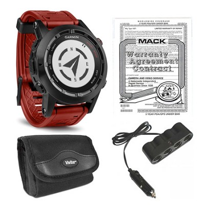 fenix 2 Special Edition Multisport Training GPS Watch and Warranty Bundle