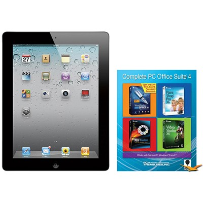 iPad 2 (16GB, Wi-Fi, Black) Certified Open Box & Office Suite 4 for PC Bundle