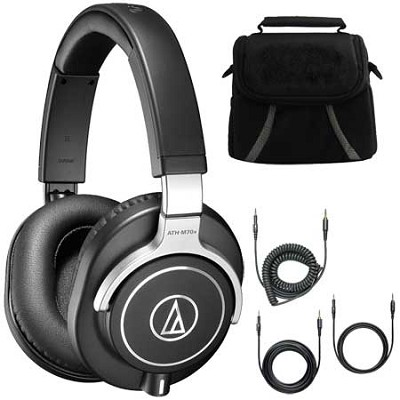 ATH-M70x Professional Monitor Headphones Black Deluxe Bundle