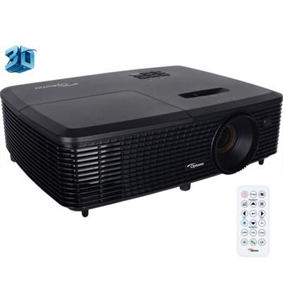 Full 3D XGA 3300 Lumen DLP Projector w/ Superior Lamp Life Certified Refurbished