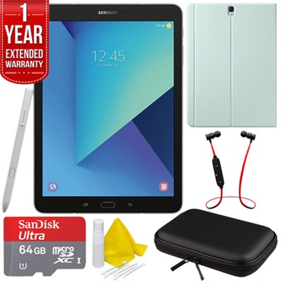 Galaxy Tab S3 9.7` Tablet with S Pen - Silver w/ Extended Warranty Bundle