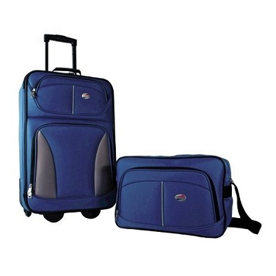 Fieldbrook 2 Piece Luggage Set with 21` Upright & 15` Boarding bag (Cobalt Blue)
