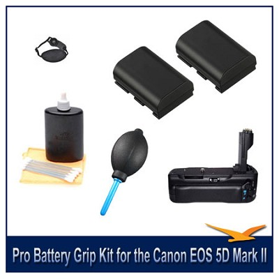 Fully Loaded Pro Battery Grip Kit for the Canon EOS 5D Mark II