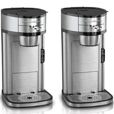 2-Pack - Scoop Single-Cup Coffee Maker - Factory Refurbished