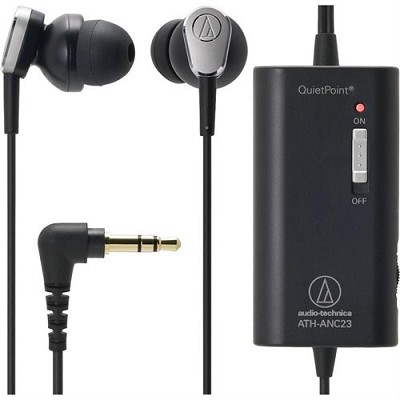 ATH-ANC23 QuietPoint Active Noise-Cancelling In-Ear Headphones