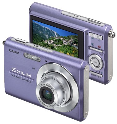 Exilim Z75 7.2 MP wtih 2.6` Wide LCD - Anti-Shake DSP (Blue)