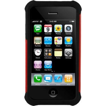 iPhone 4/4S Ballistic Shell Gel (SG) Series Case - Black/Red