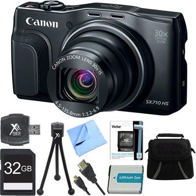 PowerShot SX710HS 20.3MP 30x Zoom HD 1080p Digital Camera Black Ultimate Bundle
