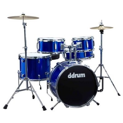 D1PB D1 JR Complete 5-piece Drum Set, Police Blue