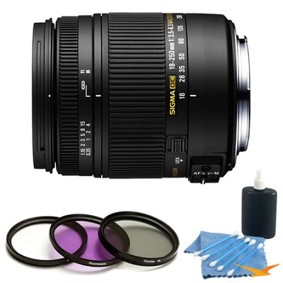 18-250mm F3.5-6.3 DC OS Macro HSM Lens for Nikon AF Kit