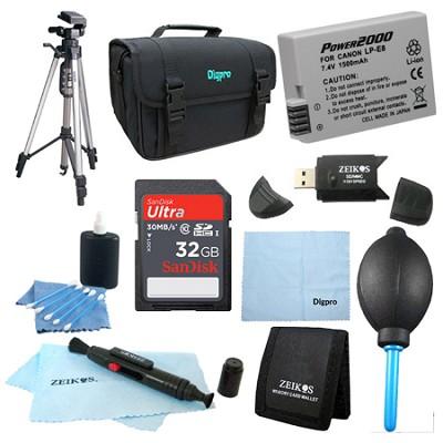 Fully Loaded Value 32 GB Card & LP-E8  Kit for Canon Rebel T5I,T4i, T3i & T2i