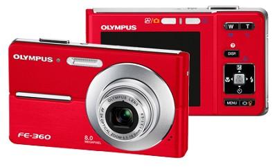 FE-360 8MP Digital Camera (Red)