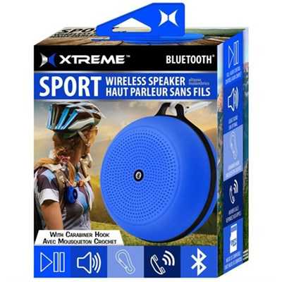 Sport Wireless Bluetooth Speaker with Carabiner Hook - Blue (XBS9-1009-BLU)