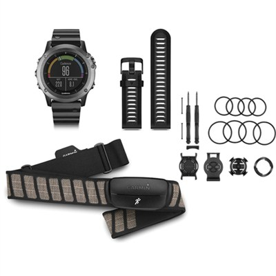 fenix 3 Multisport Training GPS Watch - Sapphire Performance Mount Kit Bundle