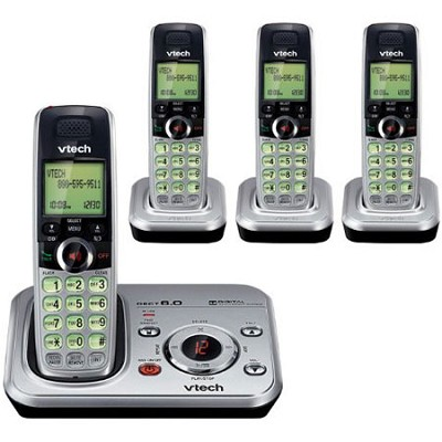 DECT 6.0 Phone Answering System with 4 Handsets and Caller ID - CS6329-4