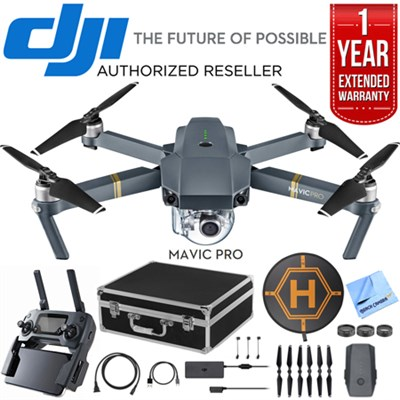 Mavic Pro Quadcopter Drone with 4K Camera and Wi-Fi Dual Battery Bundle