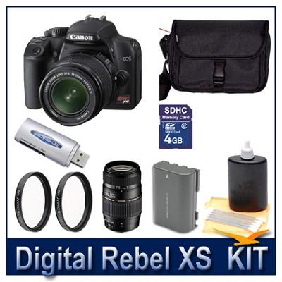 Rebel XS DSLR Dual Lens (18-55 & 70-300) Ultimate Bundle