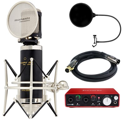 Studio Series Large Diaphragm Condenser Microphone w/ Interface Bundle