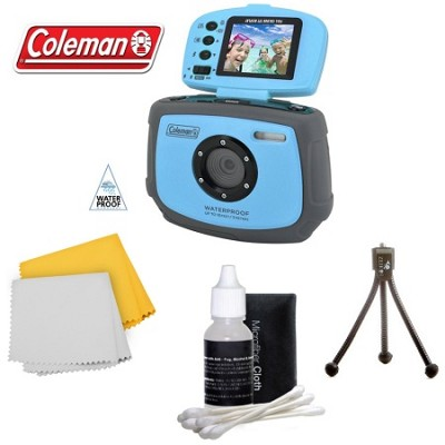 Xtreme C4WP 12 MP Waterproof Digital Camera with flip-up screen (Blue)