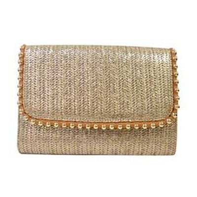 Golda Clutch Cross Body Bag - Linen