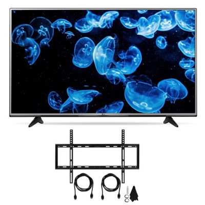 49-Inch 4K Ultra HD Smart LED TV w/ Bonus HDTV Hookup Kit
