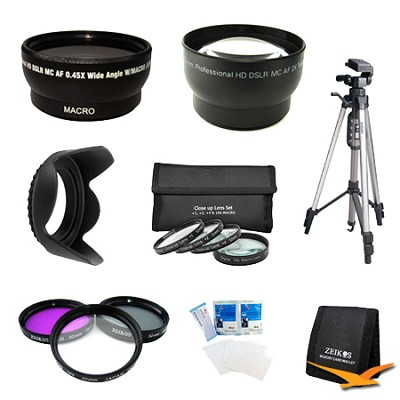 Pro Shooter 52MM Wide Angle/Telephoto Lens Kit