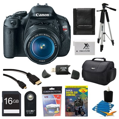 EOS Digital Rebel T3i 18MP SLR Camera 18-55mm  All Inclusive Bundle