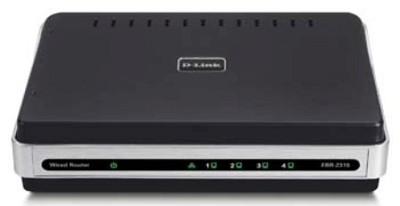 Wired Ethernet Router, 4-Port 10/100 Switch