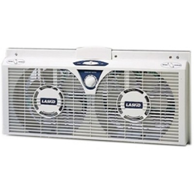 8` Electrically Reversible Twin Window Fan - 2138