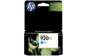 920XL Cyan Officejet Ink Cartridge.