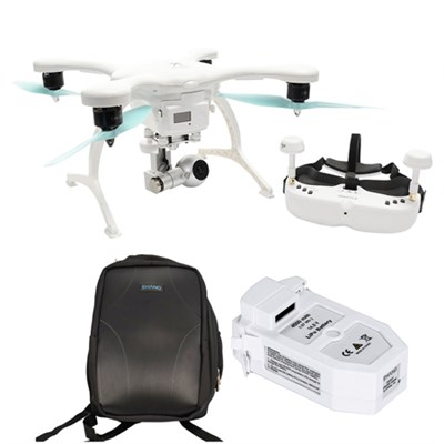 GhostDrone 2.0 VR Android -White/Blue 1 Year Crash Coverage w/Pro Bundle