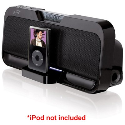 IS208B Stereo Speaker System with iPod Dock (Black)