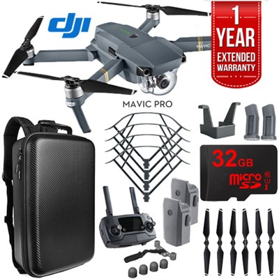 Mavic Pro Quadcopter Drone with 4K Camera Wi-Fi Mobile Command Dual Battery Kit
