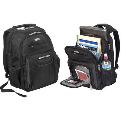 Zip Thru Air Traveler Backpack for 16` Laptop in Black - TBB012US