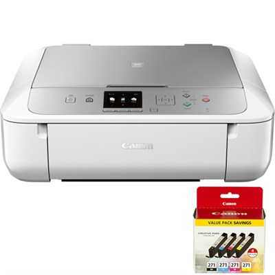 PIXMA MG5722 Wireless Inkjet All-In-One Printer w/ 4 Color Value Pack Bundle