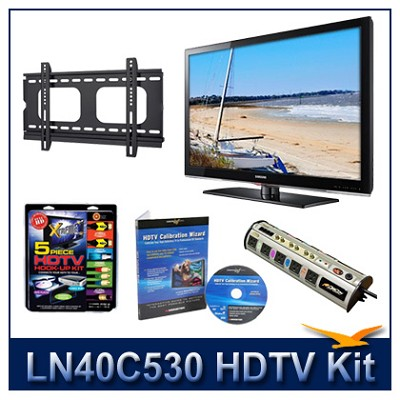 LN40C530 - HDTV + Hook-up Kit + Power Protection + Calibration + Flat Mount