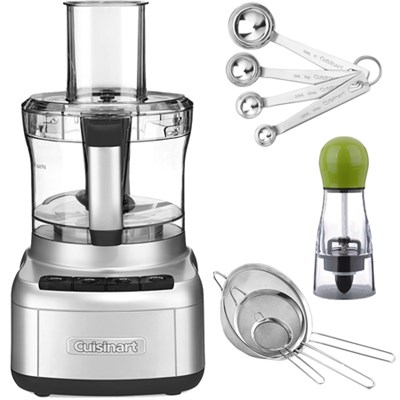 FP-8SV Elemental 8-Cup Food Processor, Silver with exclusive Bundle