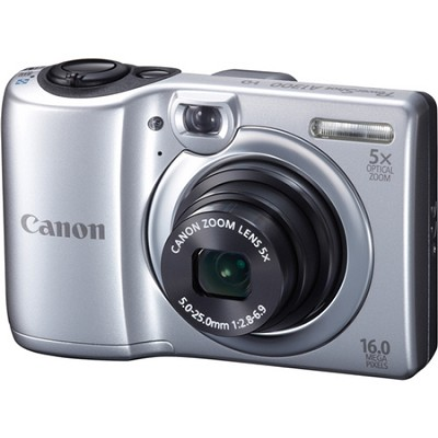PowerShot A1300 16MP Silver Digital Camera w/ 5x Zoom & 720p HD Video
