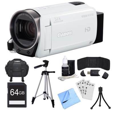 VIXIA HF R700 White Camcorder, 64GB Card, and Accessories Bundle