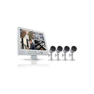 CLEARVU11 All-In-One Web Ready 4 Channel Compact H.264 DVR Security System