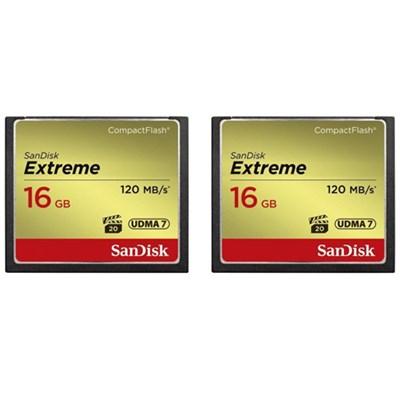2 Pack Extreme CompactFlash UDMA 7 16GB Memory Card